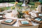 beach theme, table settings, santa monica